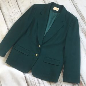 Jackets & Blazers - Pendleton women's wool blazer jacket green plus 16